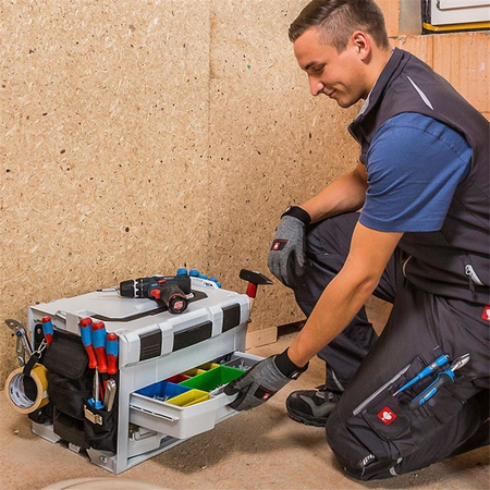 BOSCH SORTIMO Systembox LS-BOXX 306 anthrazit & i-BOXX 72 Black Line & Insetboxen-Set I3 & LS-Schublade 72 Black Line